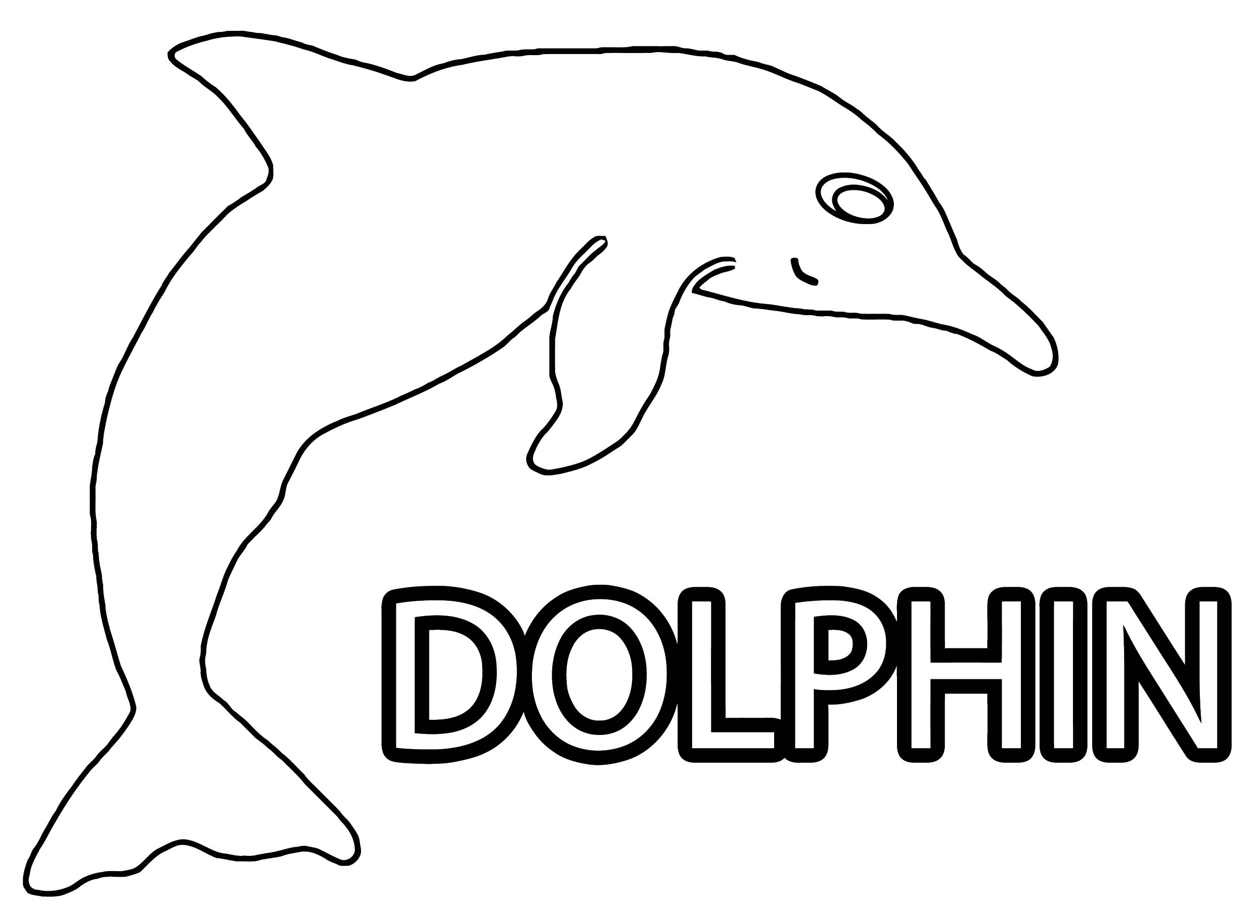 Dolphin Coloring Page 034