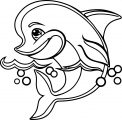 Dolphin Coloring Page 170