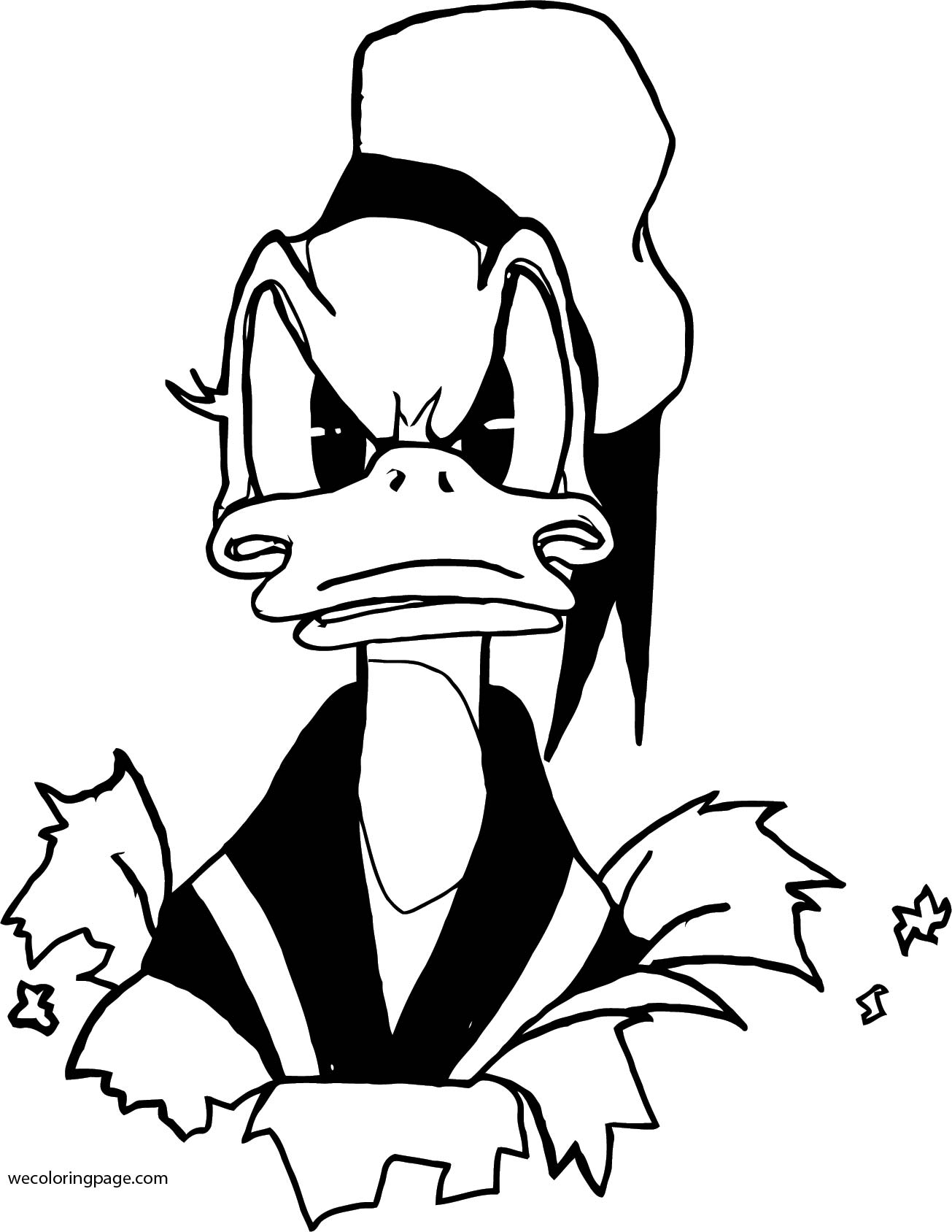 Donald Duck Coloring Page WeColoringPage 031