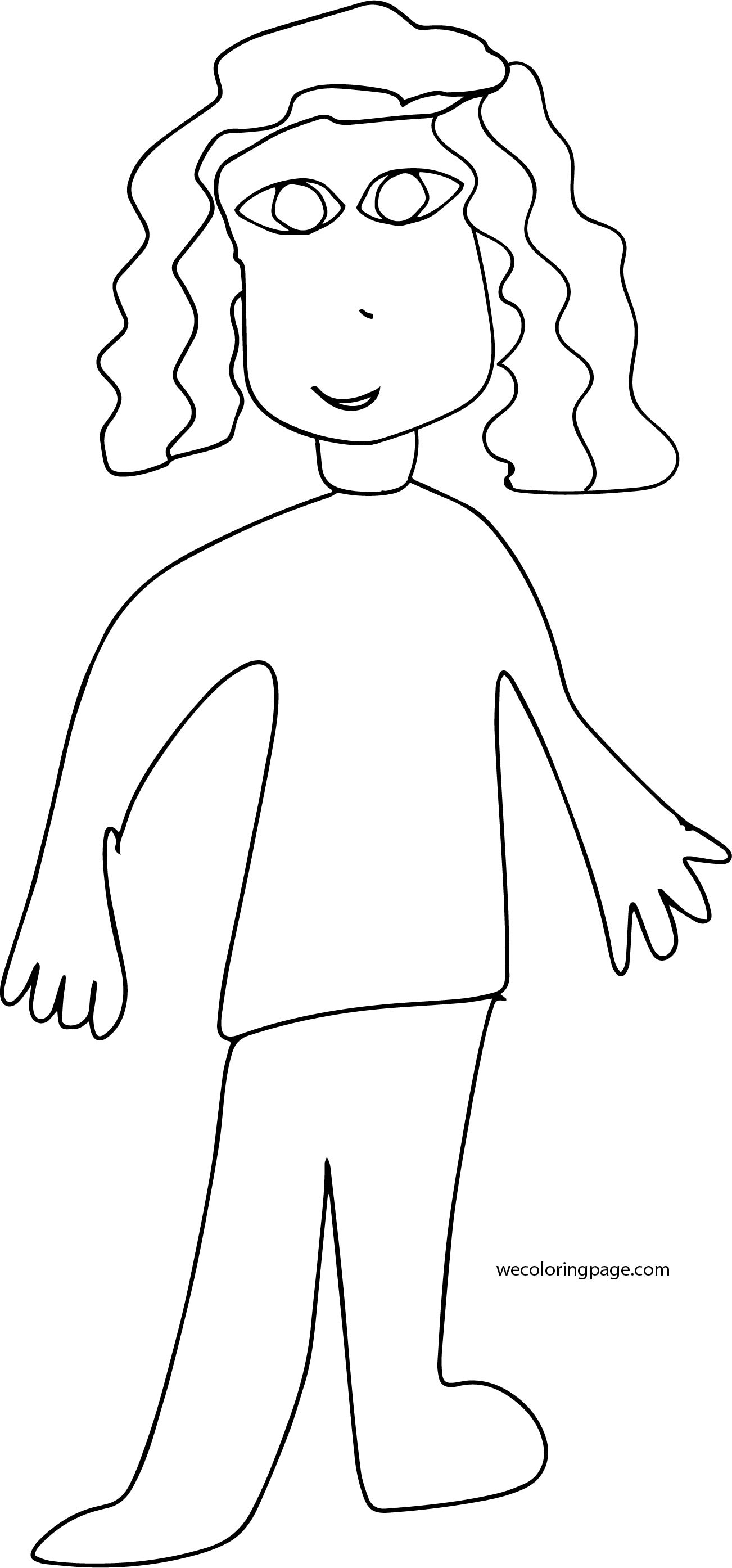 Drawing Girl Coloring Page