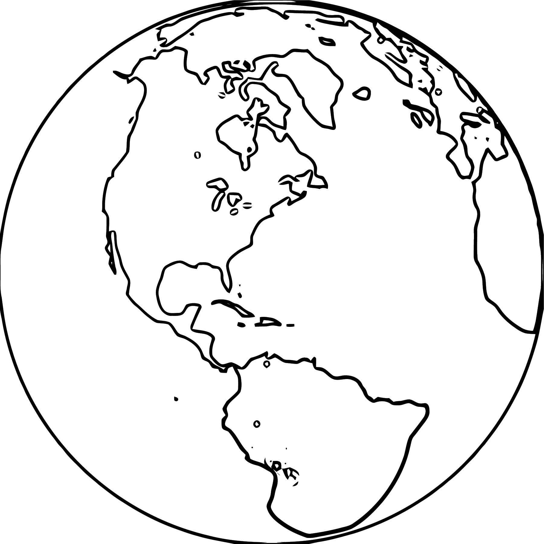 Earth Globe Coloring Page WeColoringPage 006