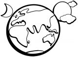 Earth Globe Coloring Page WeColoringPage 012