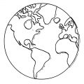 Earth Globe Coloring Page WeColoringPage 018