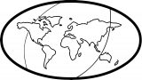 Earth Globe Coloring Page WeColoringPage 019