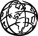 Earth Globe Coloring Page WeColoringPage 024
