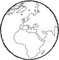 Earth Globe Coloring Page WeColoringPage 031