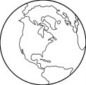Earth Globe Coloring Page WeColoringPage 037