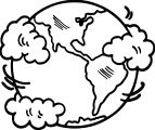 Earth Globe Coloring Page WeColoringPage 038