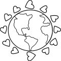 Earth Globe Coloring Page WeColoringPage 052