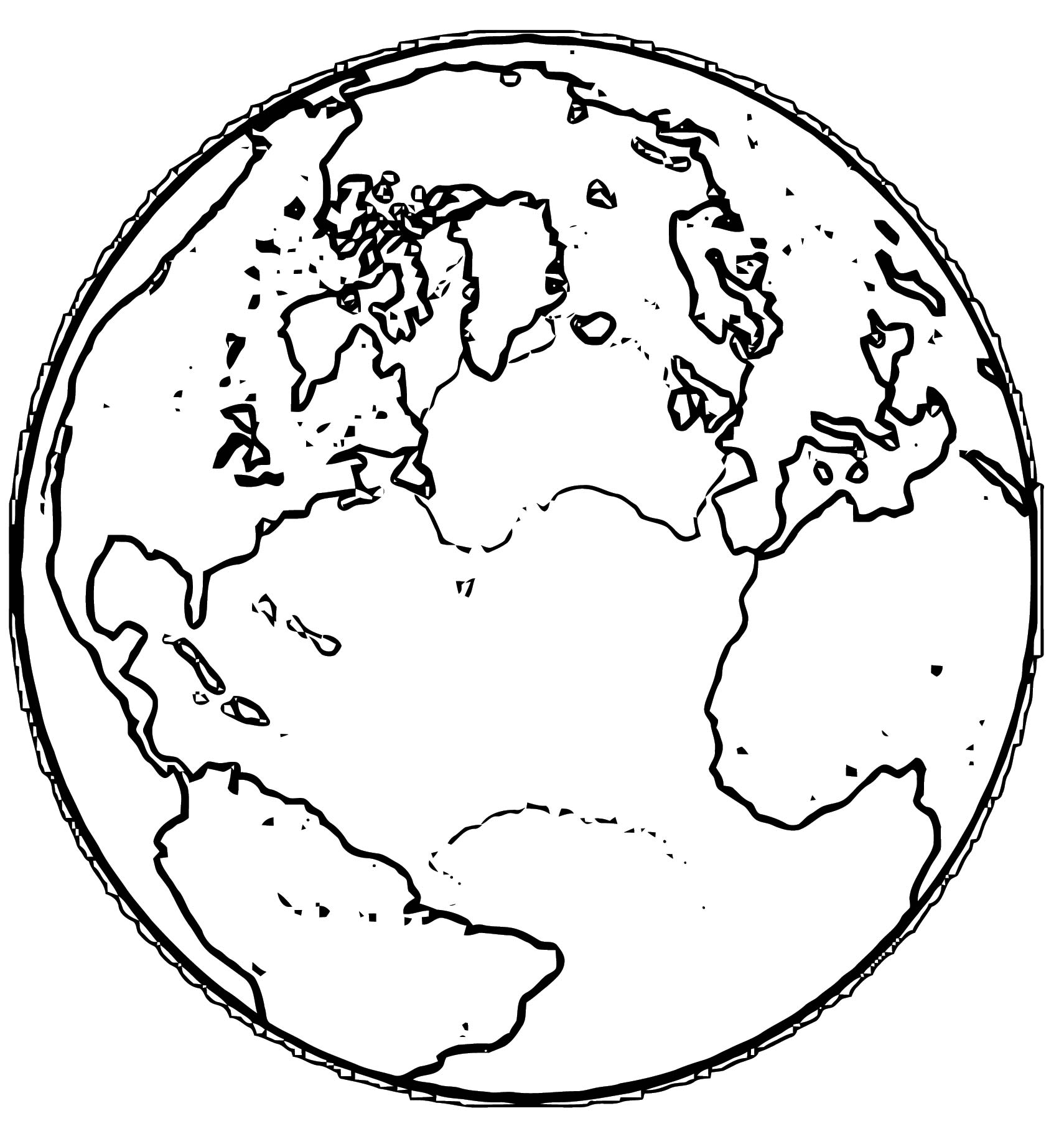 Earth Globe Coloring Page WeColoringPage 054