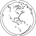 Earth Globe Coloring Page WeColoringPage 058