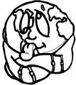Earth Globe Coloring Page WeColoringPage 059