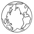 Earth Globe Coloring Page WeColoringPage 062