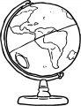 Earth Globe Coloring Page WeColoringPage 066