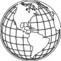 Earth Globe Coloring Page WeColoringPage 070