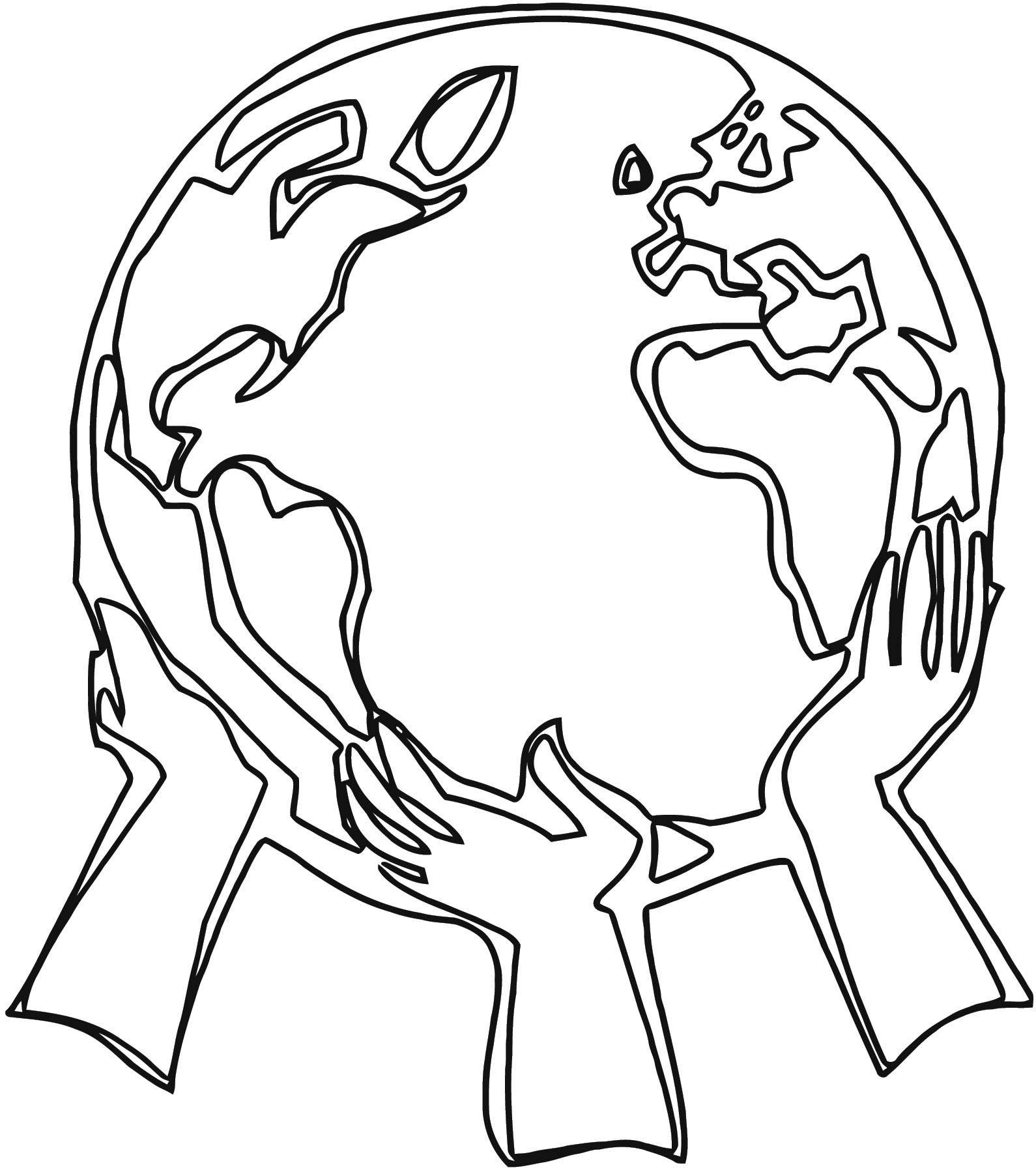 Earth Globe Coloring Page WeColoringPage 074