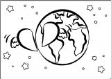 Earth Globe Coloring Page WeColoringPage 077