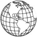 Earth Globe Coloring Page WeColoringPage 079