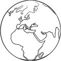 Earth Globe Coloring Page WeColoringPage 080