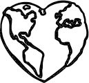 Earth Globe Coloring Page WeColoringPage 088