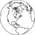 Earth Globe Coloring Page WeColoringPage 090