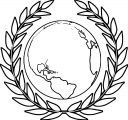 Earth Globe Coloring Page WeColoringPage 091