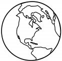 Earth Globe Coloring Page WeColoringPage 093