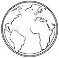 Earth Globe Coloring Page WeColoringPage 101