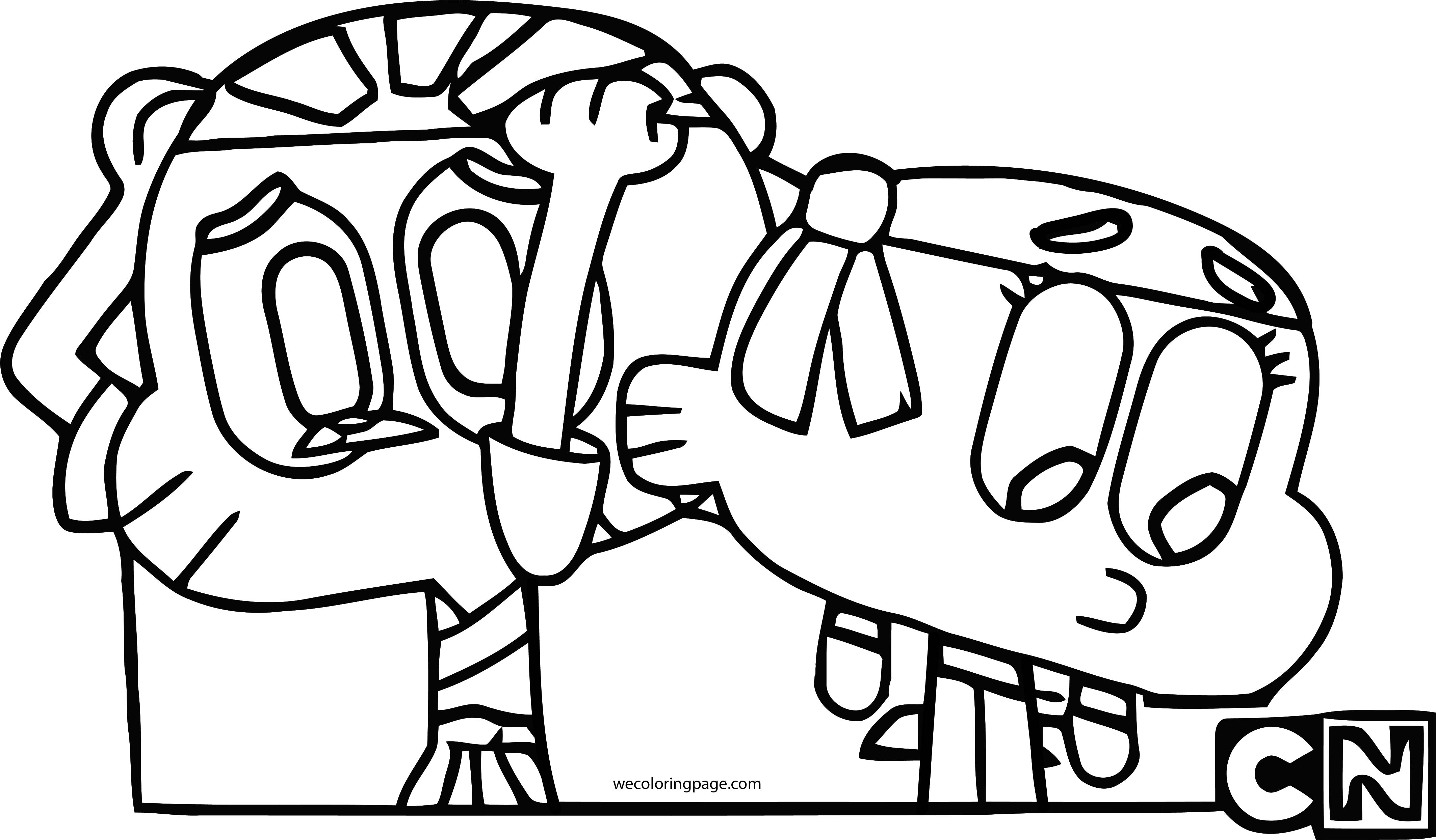 Gumball And Darwin Kung Fu Coloring Page Wecoloringpage Com