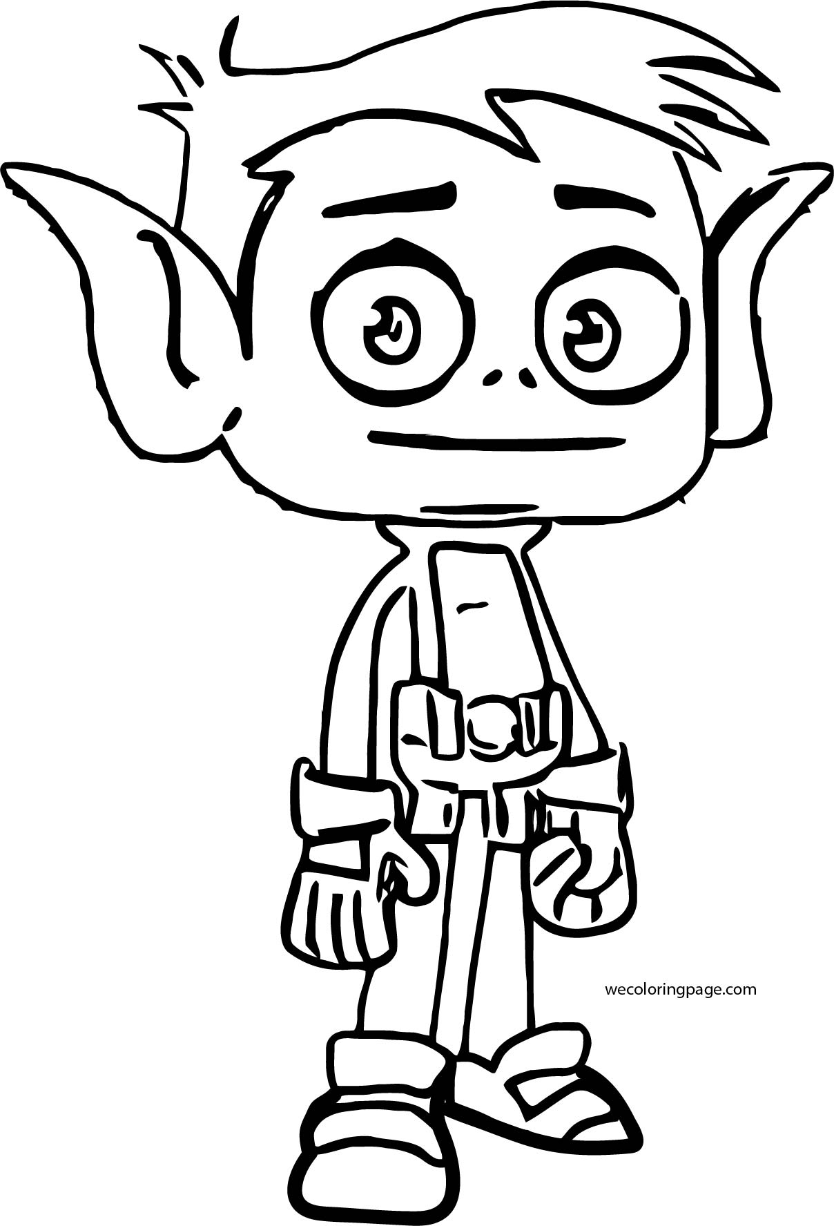 How To Draw Beast Boy From Teen