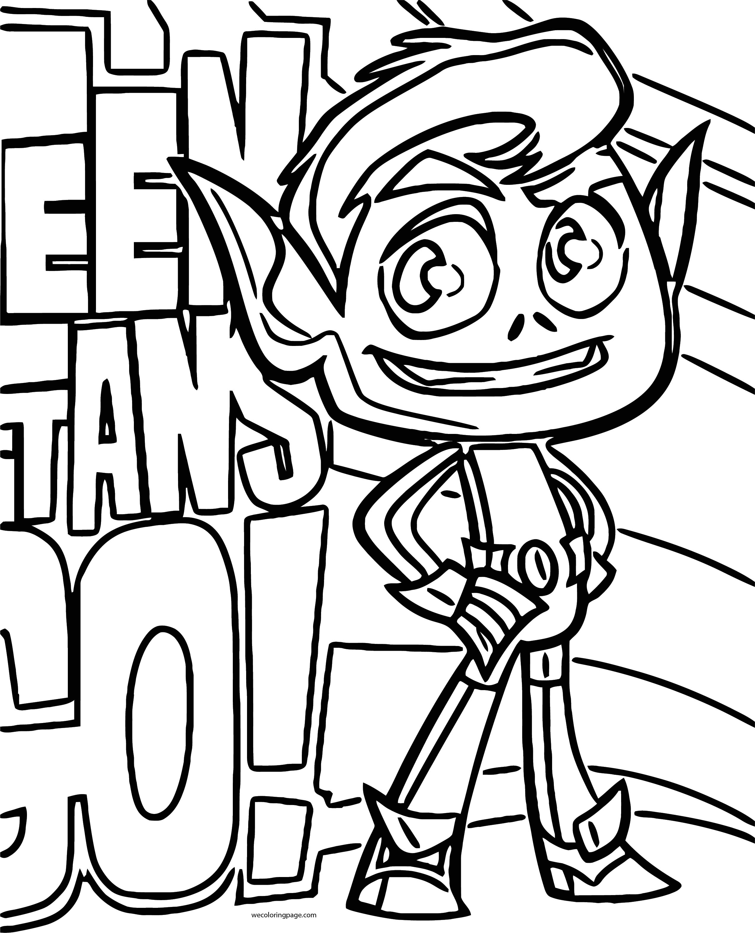 How To Draw Beast Boy From Teen Titans Go Ready Coloring Page