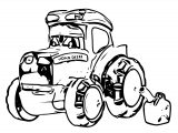 John Johnny Deere Tractor Coloring Page WeColoringPage 43