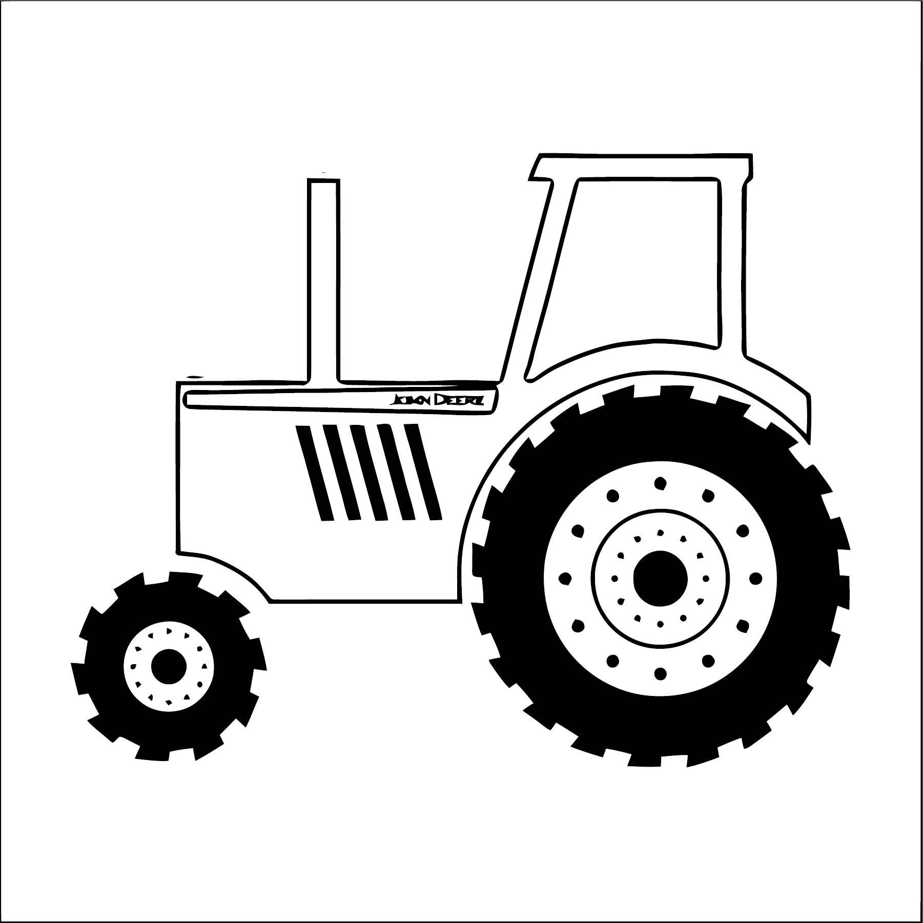 John Johnny Deere Tractor Coloring Page WeColoringPage 53 ...