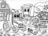John Johnny Deere Tractor Farm Coloring Page WeColoringPage
