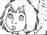 Jungle Book Mowgli Confused Coloring Page