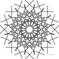 Mandala Shape Style Amazing Snow Coloring Page