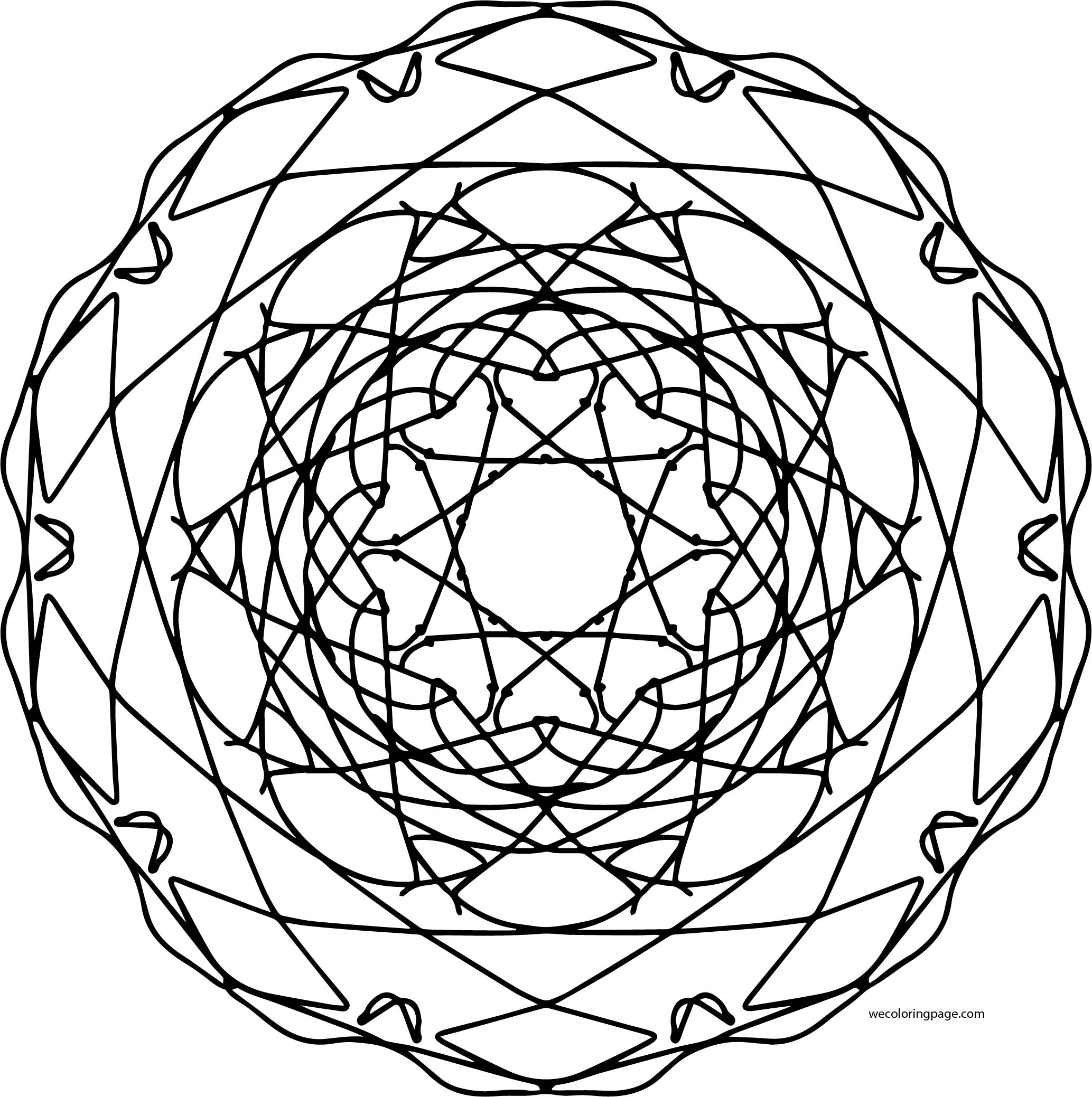 Mandala Shape Style Coloring Page 81