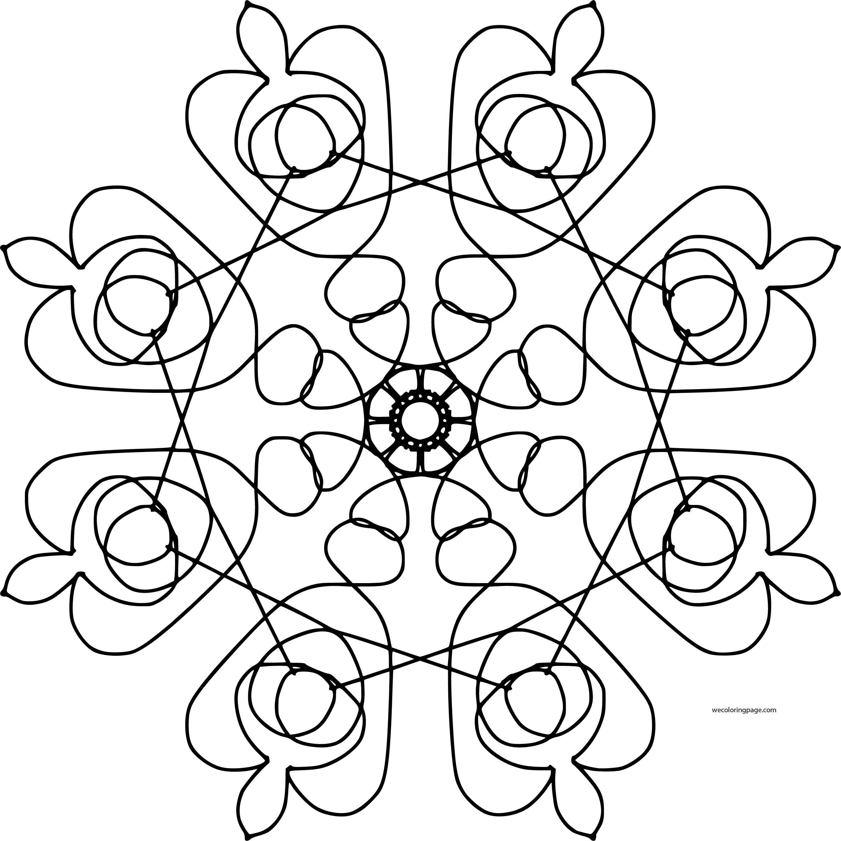 Mandala Shape Style Coloring Page 84