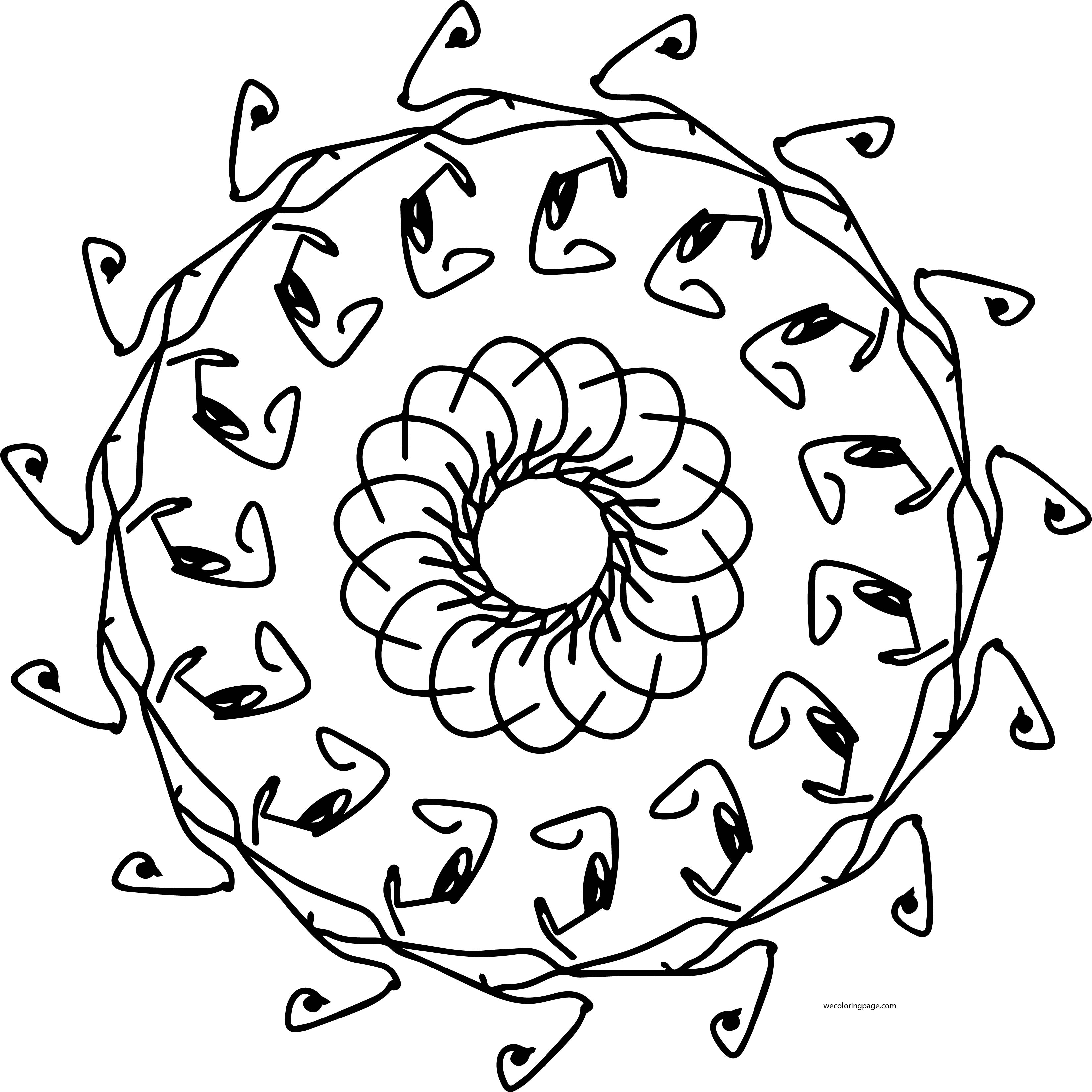 Mandala Shape Style Coloring Page 85