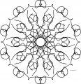 Mandala Shape Style Coloring Page 86