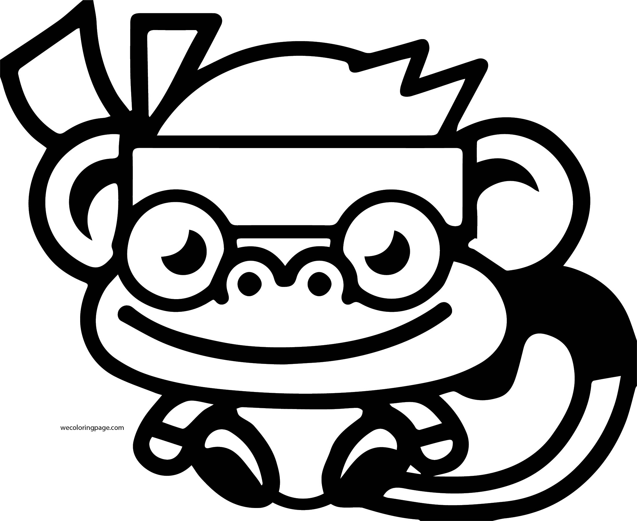 Moshi Monsters Cute Monkey Coloring Page | Wecoloringpage.com