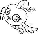 Moshi Monsters Flying Girl Angel Coloring Page