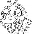 Moshi Monsters Just Burnie Coloring Page
