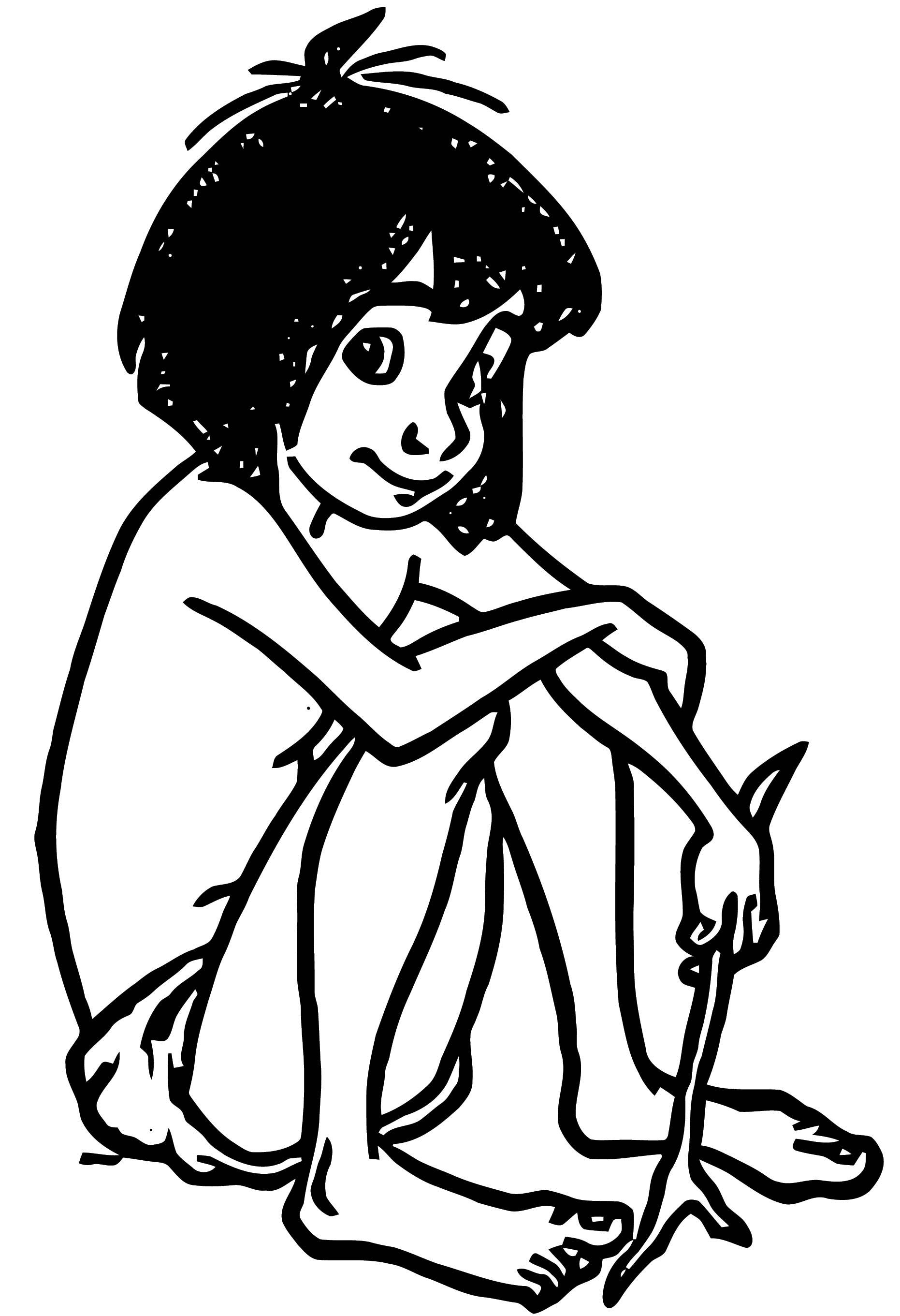 Mowgli The Jungle Book Coloring Page Wecoloringpage Com