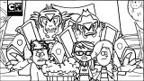 New Virus Warrior Convention I Supernoobs I Cartoon Network Coloring Page