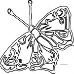 Outline Butterfly Coloring Page
