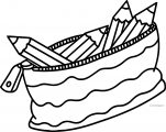 Pen Bag Coloring Page