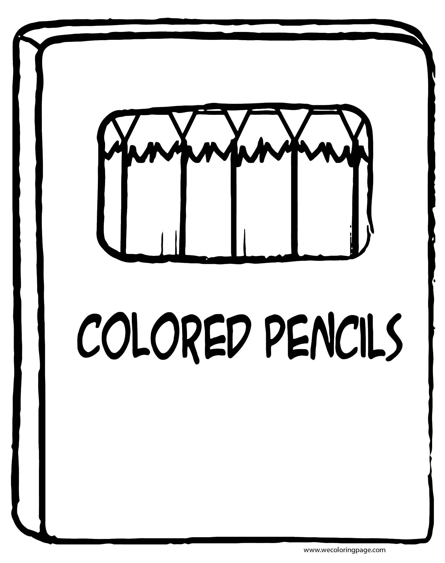 Pen Box Coloring Page