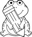 Pen Frog Coloring Page