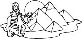 Plagues Of Egypt Camel Coloring Page